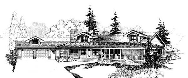 Country Southwest House Plan 98724 Elevation