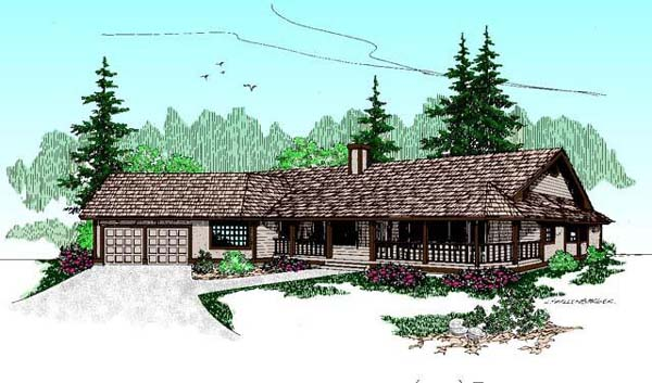 Ranch House Plan 98726 Elevation