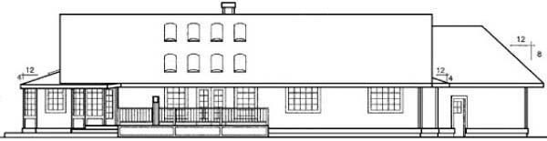 Ranch House Plan 98726 Rear Elevation