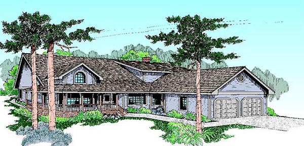 Bungalow Ranch House Plan 98727 Elevation