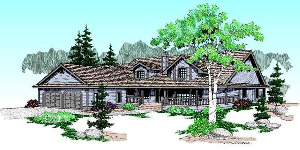 Country Ranch House Plan 98728 Elevation