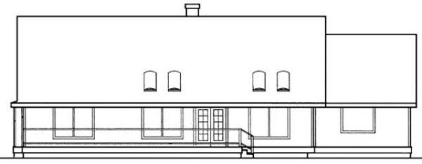 Country Ranch House Plan 98728 Rear Elevation