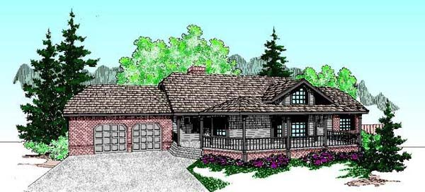 Country Ranch House Plan 98729 Elevation