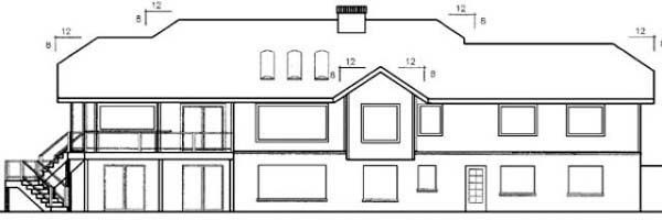 Country Ranch House Plan 98729 Rear Elevation