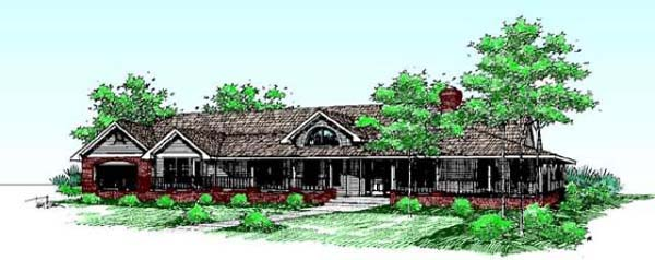 Ranch House Plan 98730 Elevation