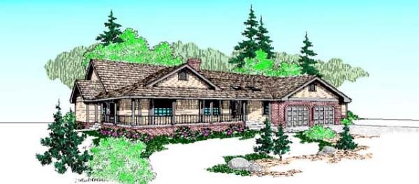Country Ranch House Plan 98732 Elevation