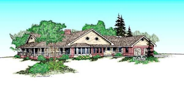 Country Ranch House Plan 98733 Elevation