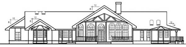 Country Ranch House Plan 98733 Rear Elevation