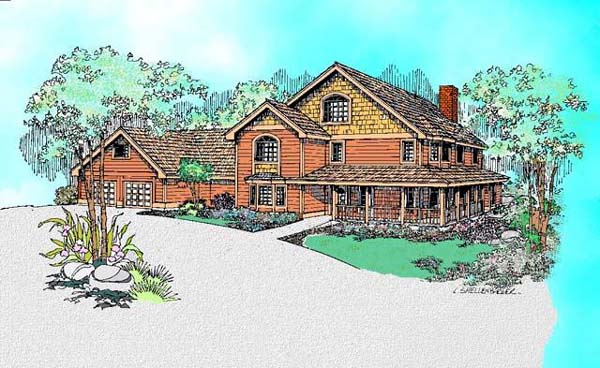 Bungalow Country European Farmhouse House Plan 98738 Elevation