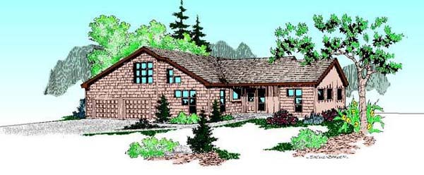 Ranch House Plan 98740 Elevation