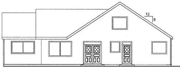 Ranch House Plan 98740 Rear Elevation