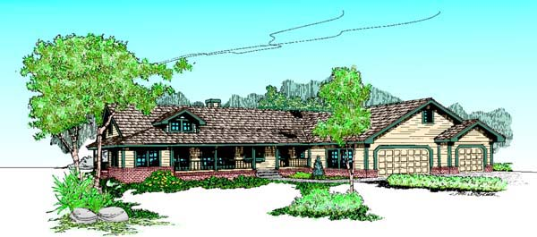 Ranch House Plan 98744 Elevation