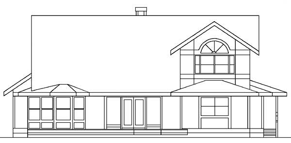 Country Farmhouse House Plan 98745 Rear Elevation