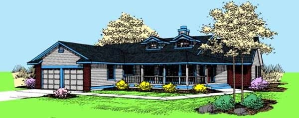 Ranch House Plan 98748 Elevation