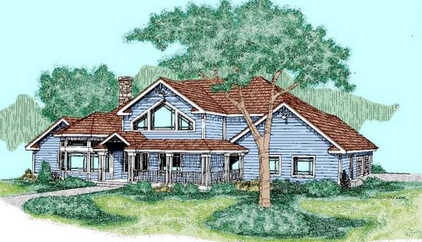 Contemporary House Plan 98749 Elevation