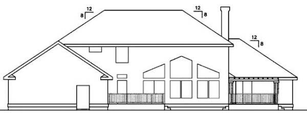 Contemporary House Plan 98749 Rear Elevation