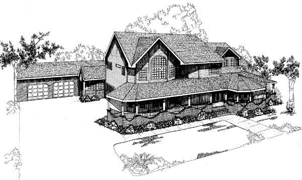 Country Ranch House Plan 98753 Elevation