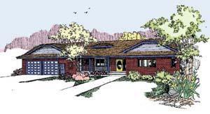 Contemporary Ranch Tudor House Plan 98755 Elevation