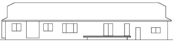 Contemporary Ranch Tudor House Plan 98755 Rear Elevation