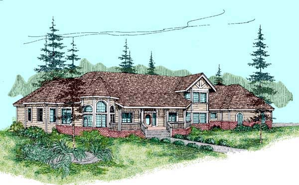 Contemporary Victorian House Plan 98758 Elevation