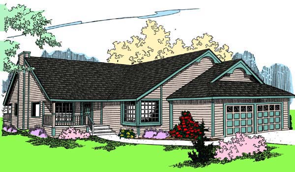 Ranch Traditional House Plan 98759 Elevation