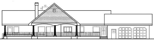 Colonial Ranch House Plan 98760 Rear Elevation