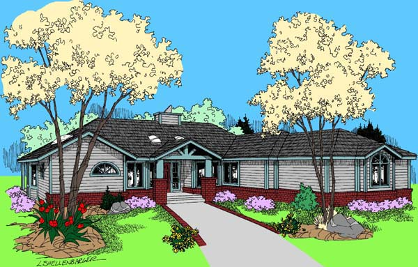 Ranch Traditional House Plan 98761 Elevation