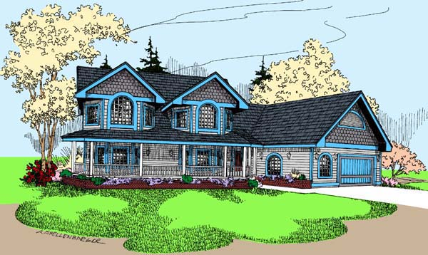 Farmhouse House Plan 98762 Elevation