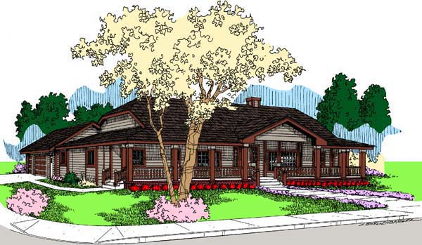 Farmhouse Ranch House Plan 98764 Elevation