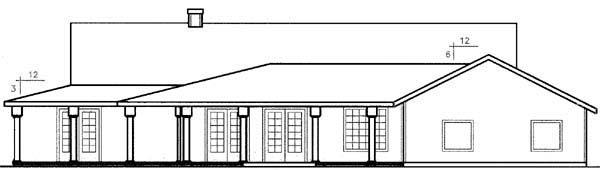 Farmhouse Ranch House Plan 98764 Rear Elevation