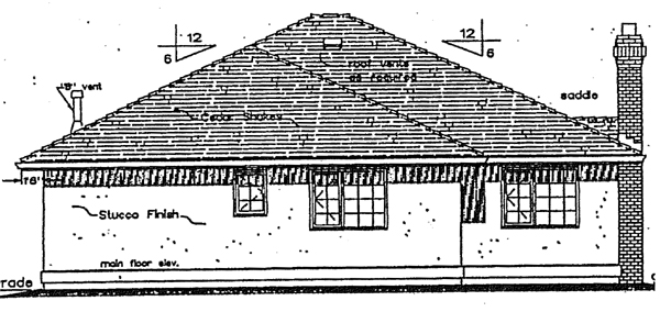 Florida Mediterranean House Plan 98801 Rear Elevation