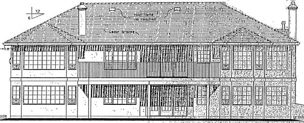 Ranch , Mediterranean , Florida House Plan 98802 with 3 Beds, 3 Baths, 2 Car Garage Rear Elevation