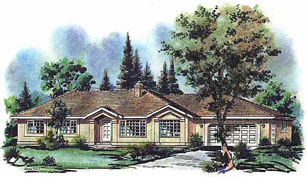 Ranch House Plan 98803 Elevation