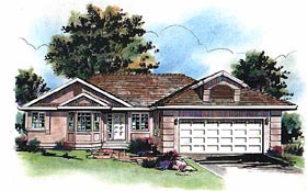 Plan Number 98804 - 1372 Square Feet