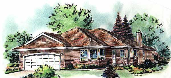 Bungalow Elevation of Plan 98808