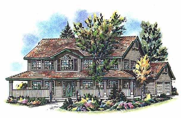 Country House Plan 98810 Elevation
