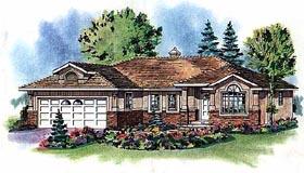 Mediterranean , Florida House Plan 98813 with 2 Beds, 2 Baths, 2 Car Garage Elevation