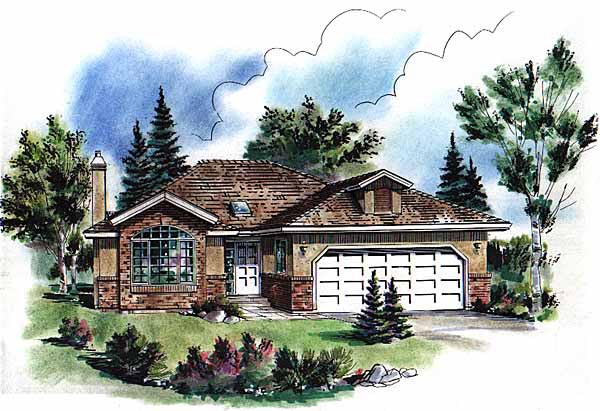 Bungalow European House Plan 98816 Elevation