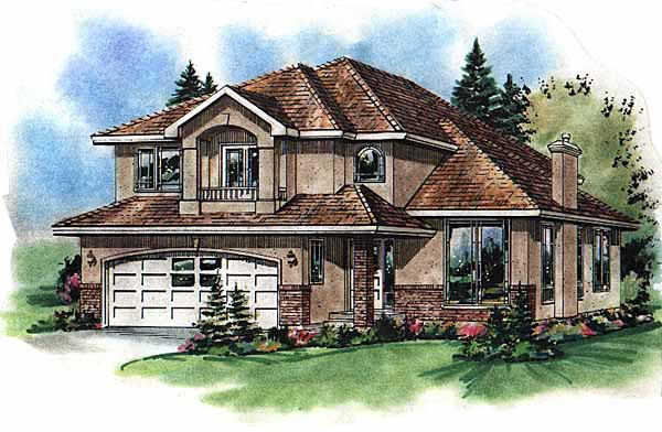 European House Plan 98817 Elevation