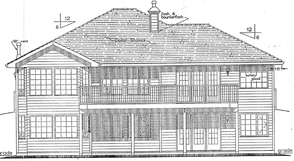 Bungalow Mediterranean House Plan 98818 Rear Elevation