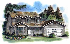 Cape Cod Country House Plan 98823 Elevation