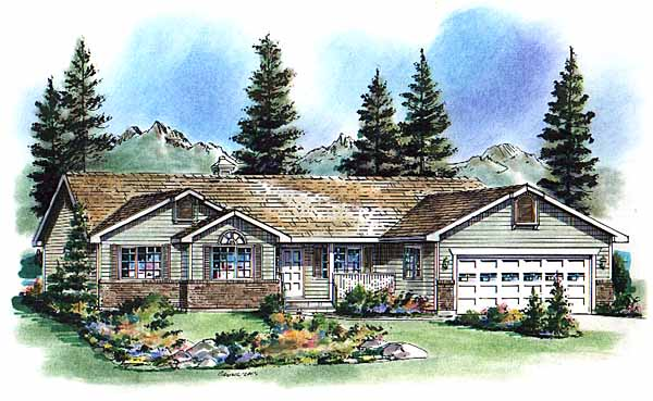 Ranch House Plan 98824 Elevation