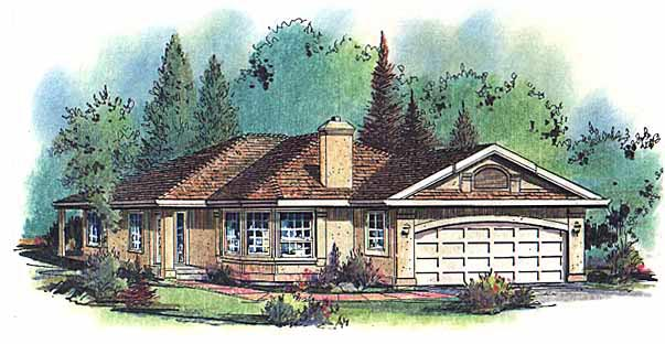 Ranch House Plan 98825 Elevation