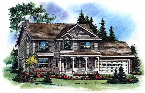 Farmhouse Elevation of Plan 98826
