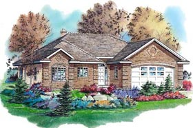European House Plan 98828 Elevation
