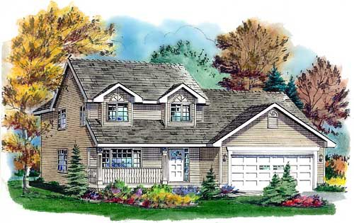 House Plan 98830 | Country Style Plan with 1709 Sq Ft, 3 Bedrooms, 3 Bathrooms, 2 Car Garage Elevation