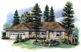 Florida House Plan 98835 with 3 Beds, 2 Baths, 2 Car Garage Elevation