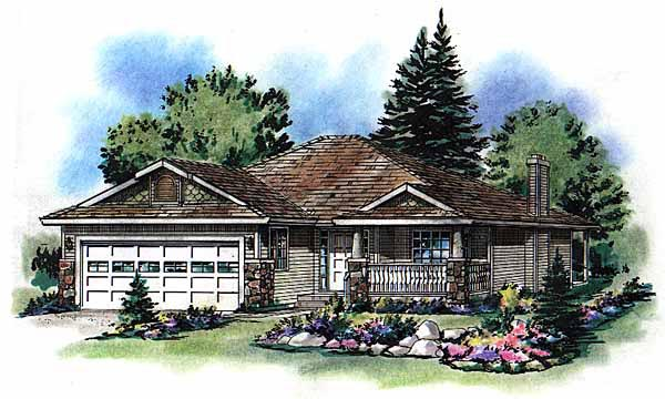 Bungalow Traditional House Plan 98837 Elevation