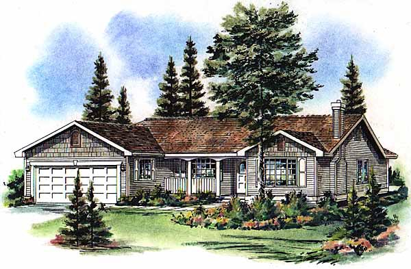 Ranch Elevation of Plan 98840
