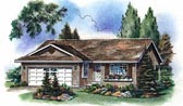 Plan Number 98841 - 997 Square Feet